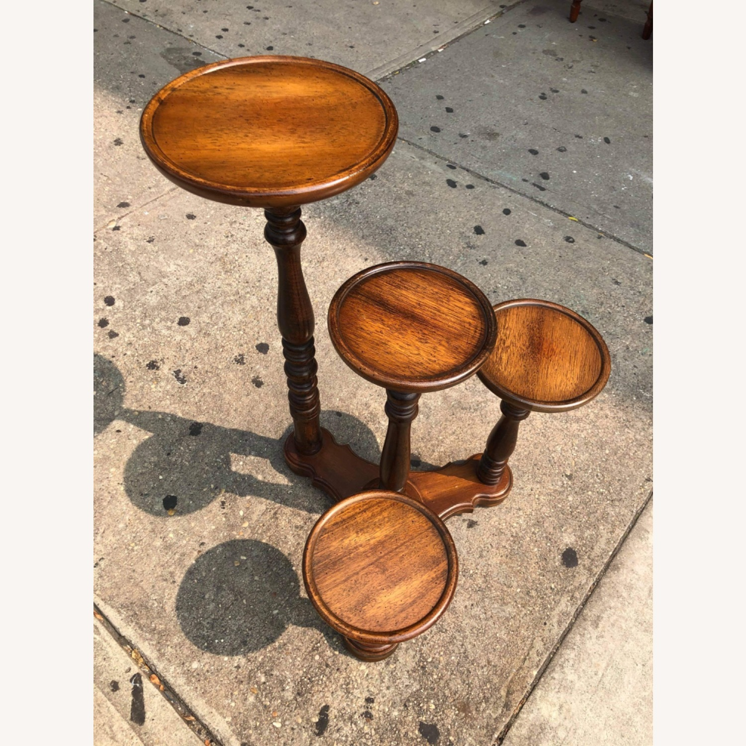 Antique 1940s Mahogany Flower Stand - image-6