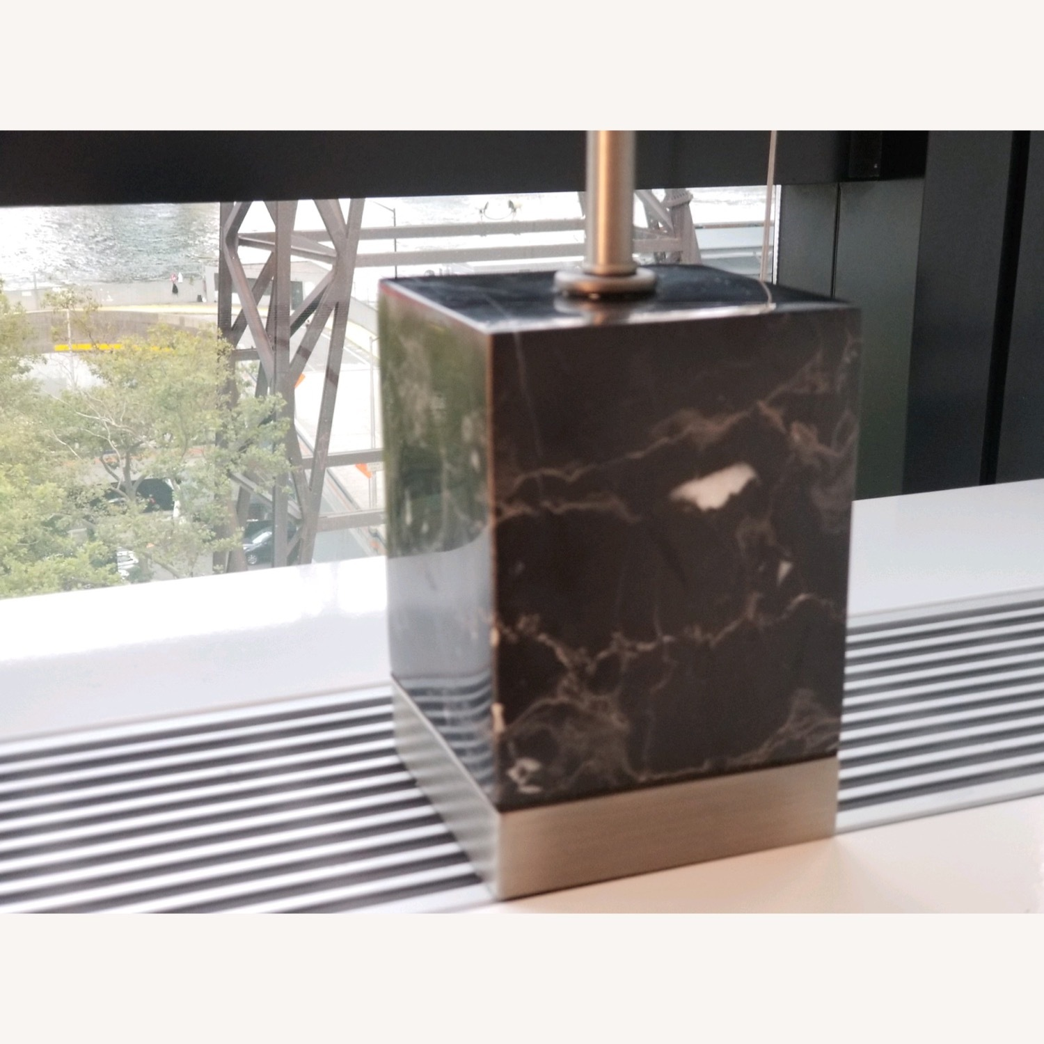 CB2 Sharp Black Marble Table Lamps - image-5