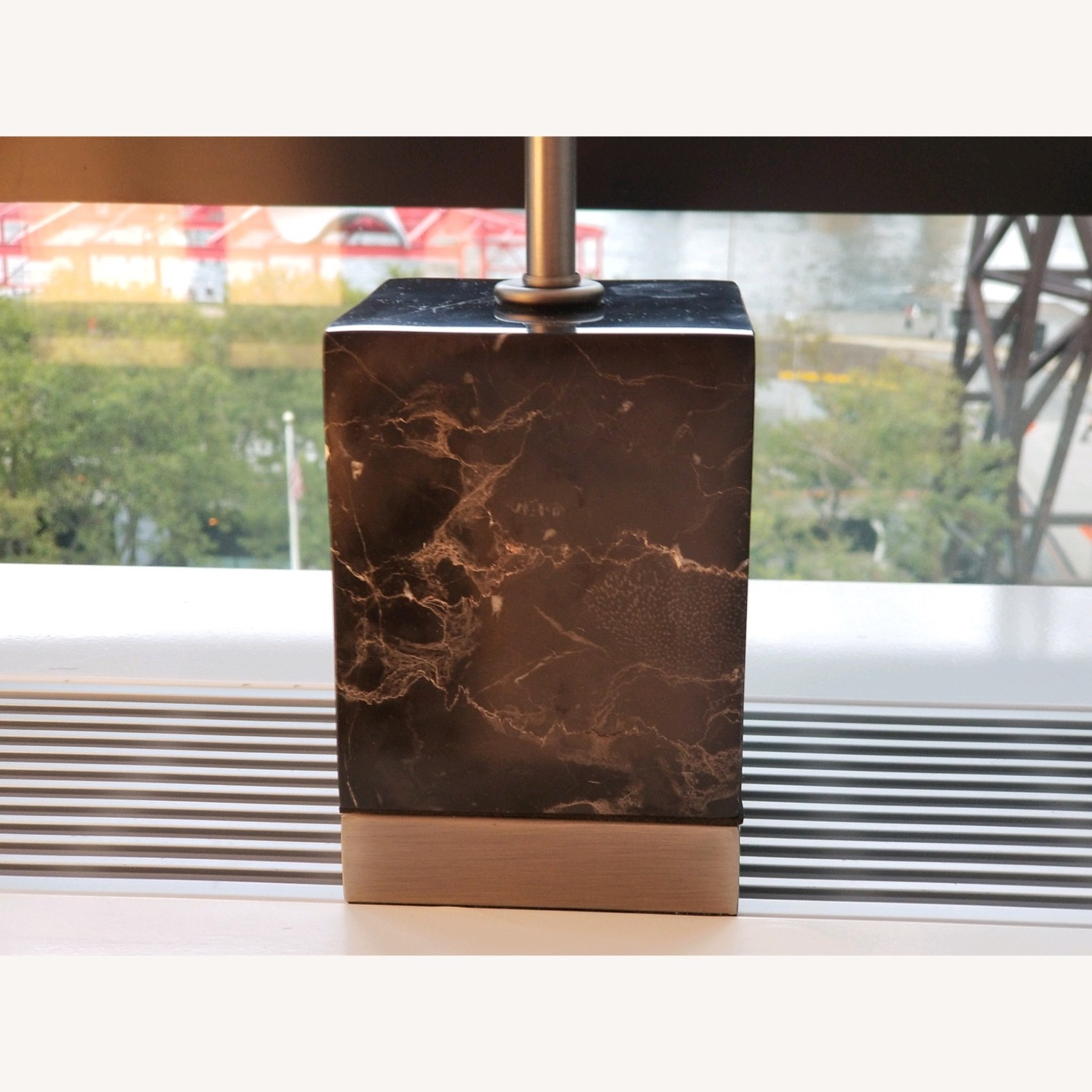 CB2 Sharp Black Marble Table Lamps - image-4