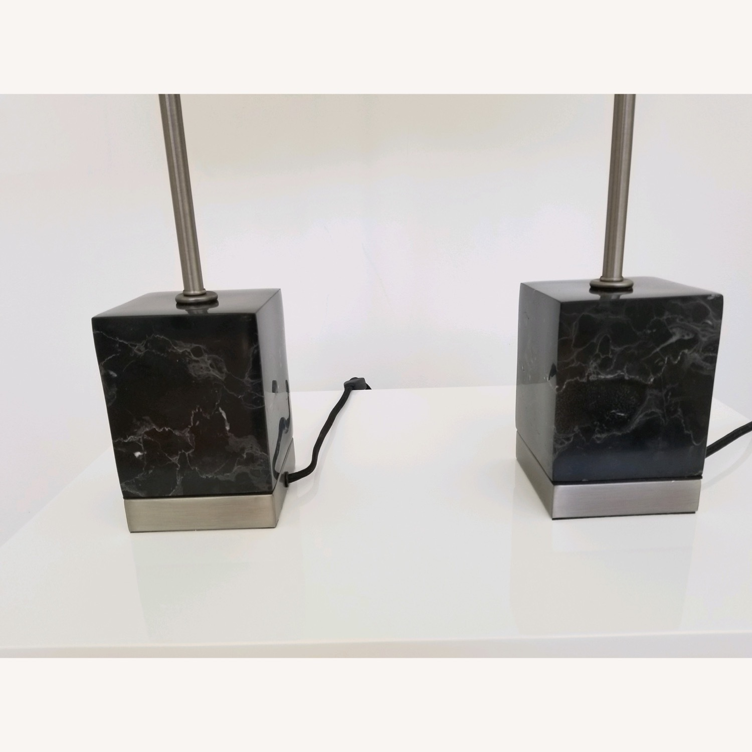 CB2 Sharp Black Marble Table Lamps - image-3