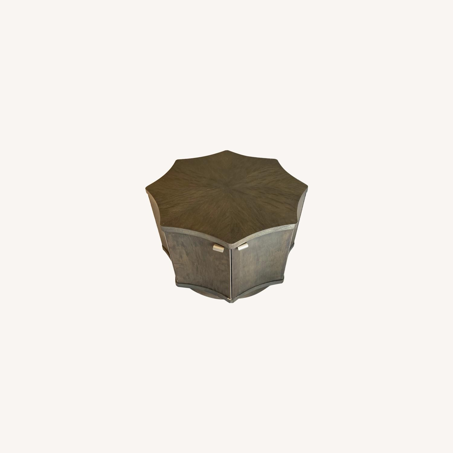 Two Octagonal Storage Coffee Tables - image-0