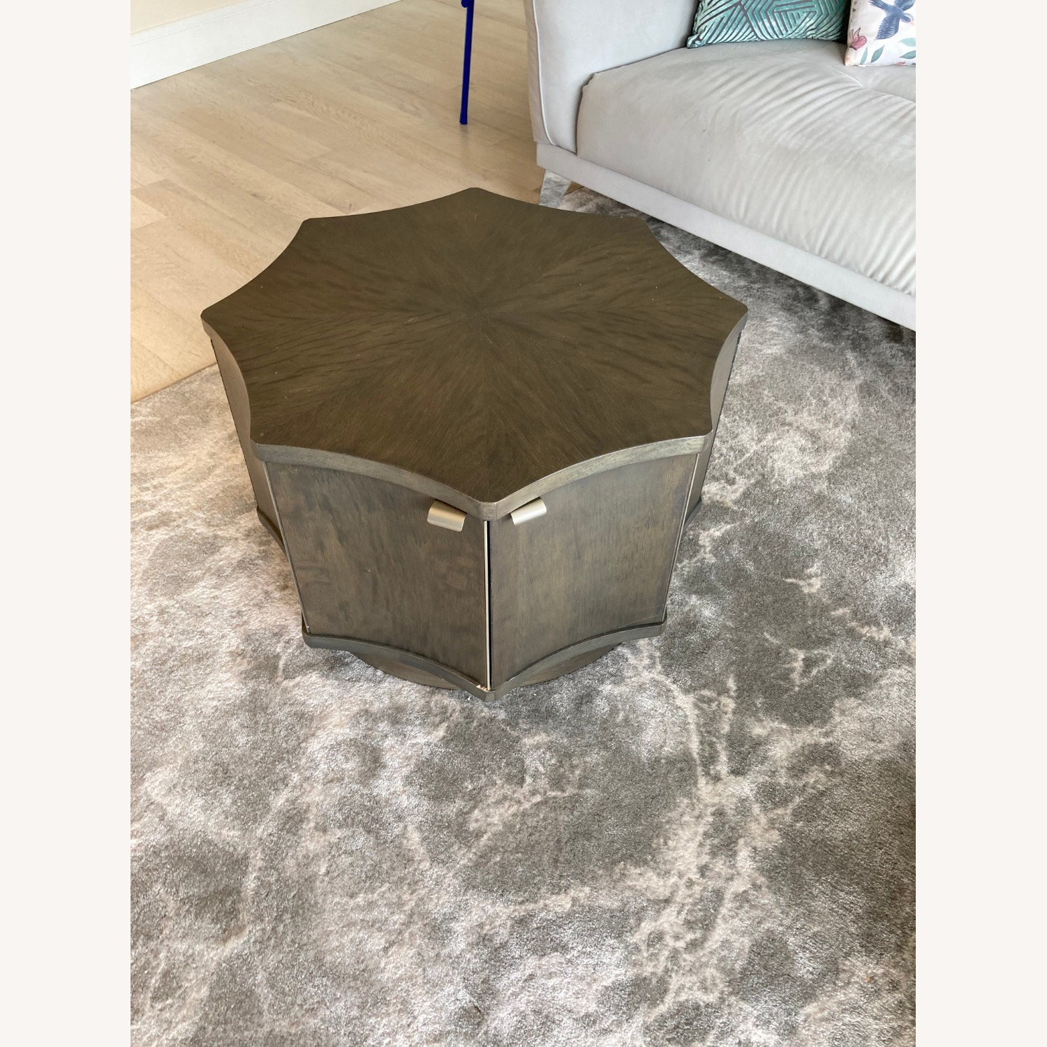 Two Octagonal Storage Coffee Tables - image-2