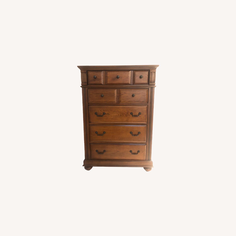 Broyhill Furniture Hardwood Dresser - image-0