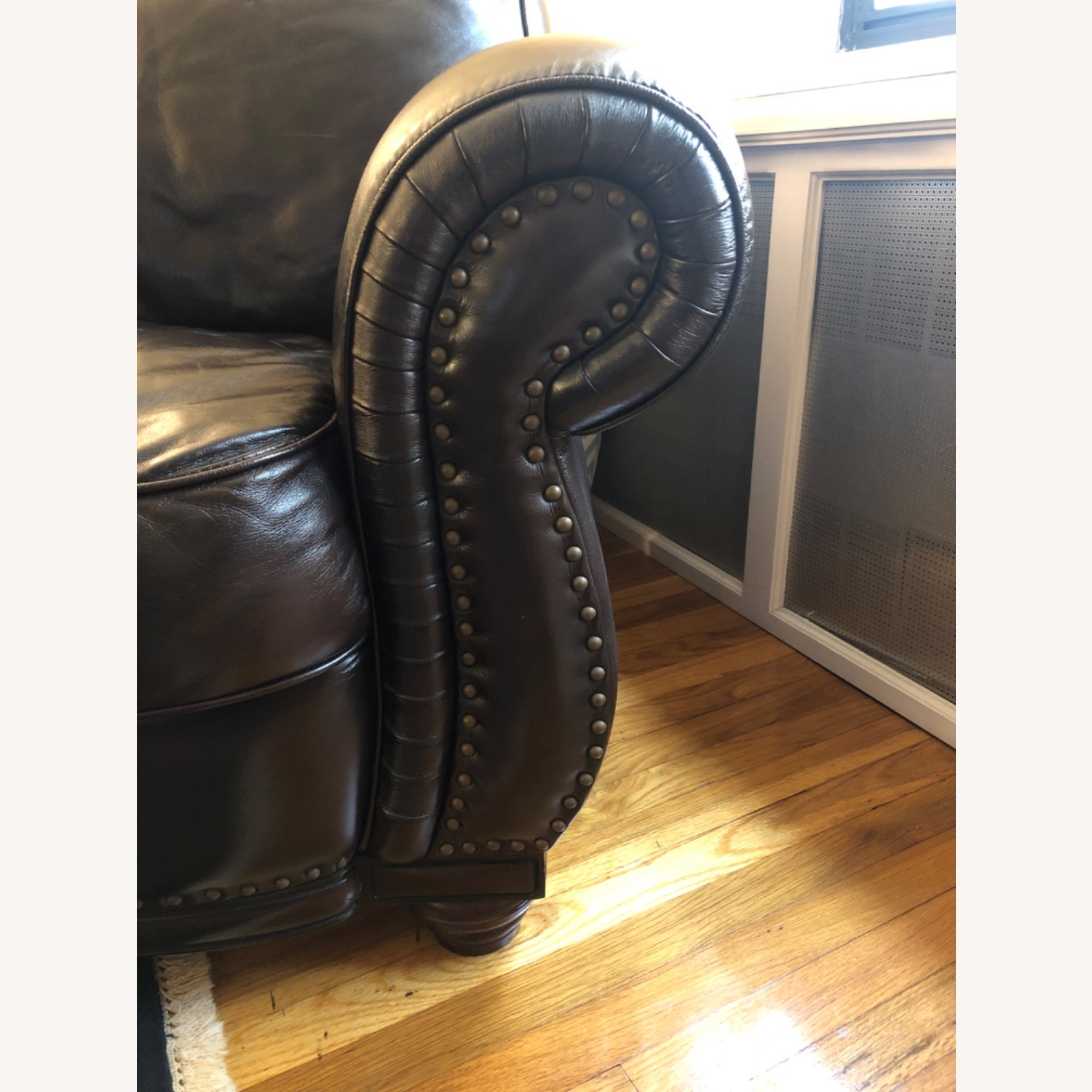 Macy's Chocolate Brown Leather Club Chair - image-2