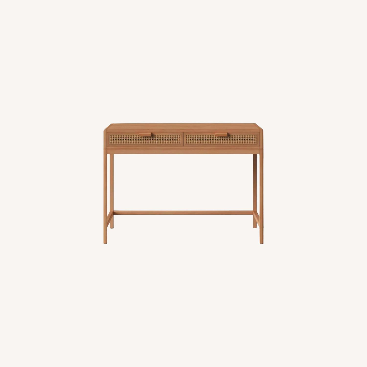 Target Opalhouse Writing Desk with Drawers Brown - image-0