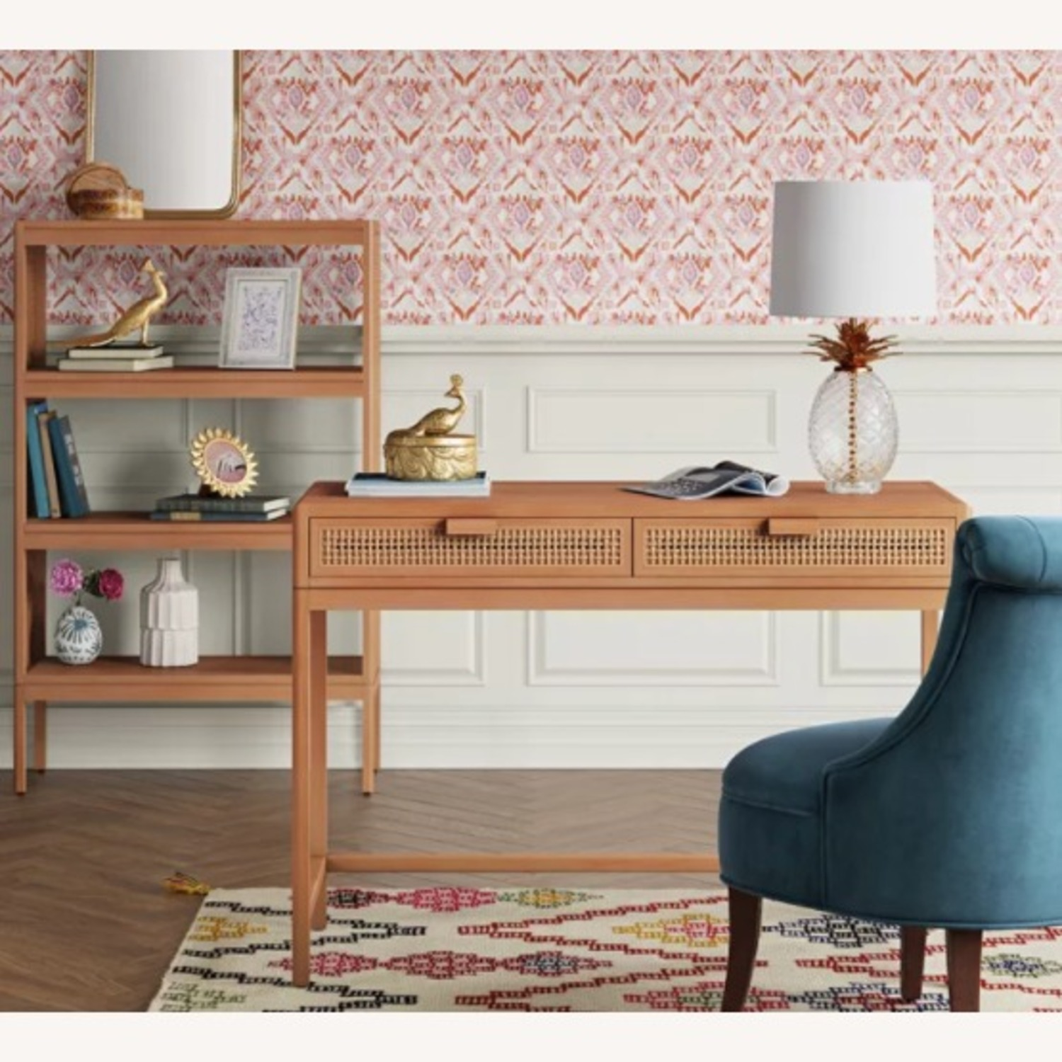 Target Opalhouse Writing Desk with Drawers Brown - image-2