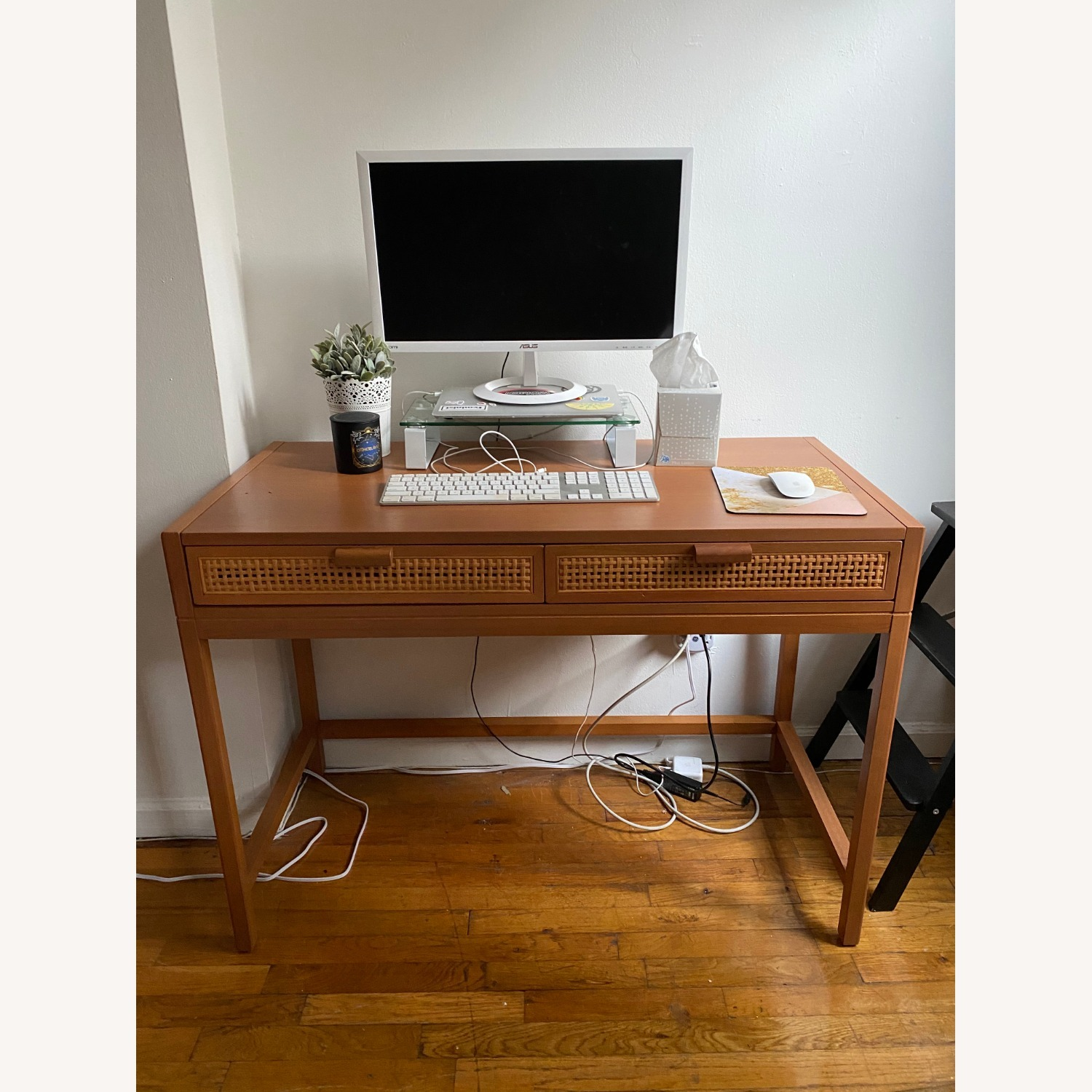 Target Opalhouse Writing Desk with Drawers Brown - image-5