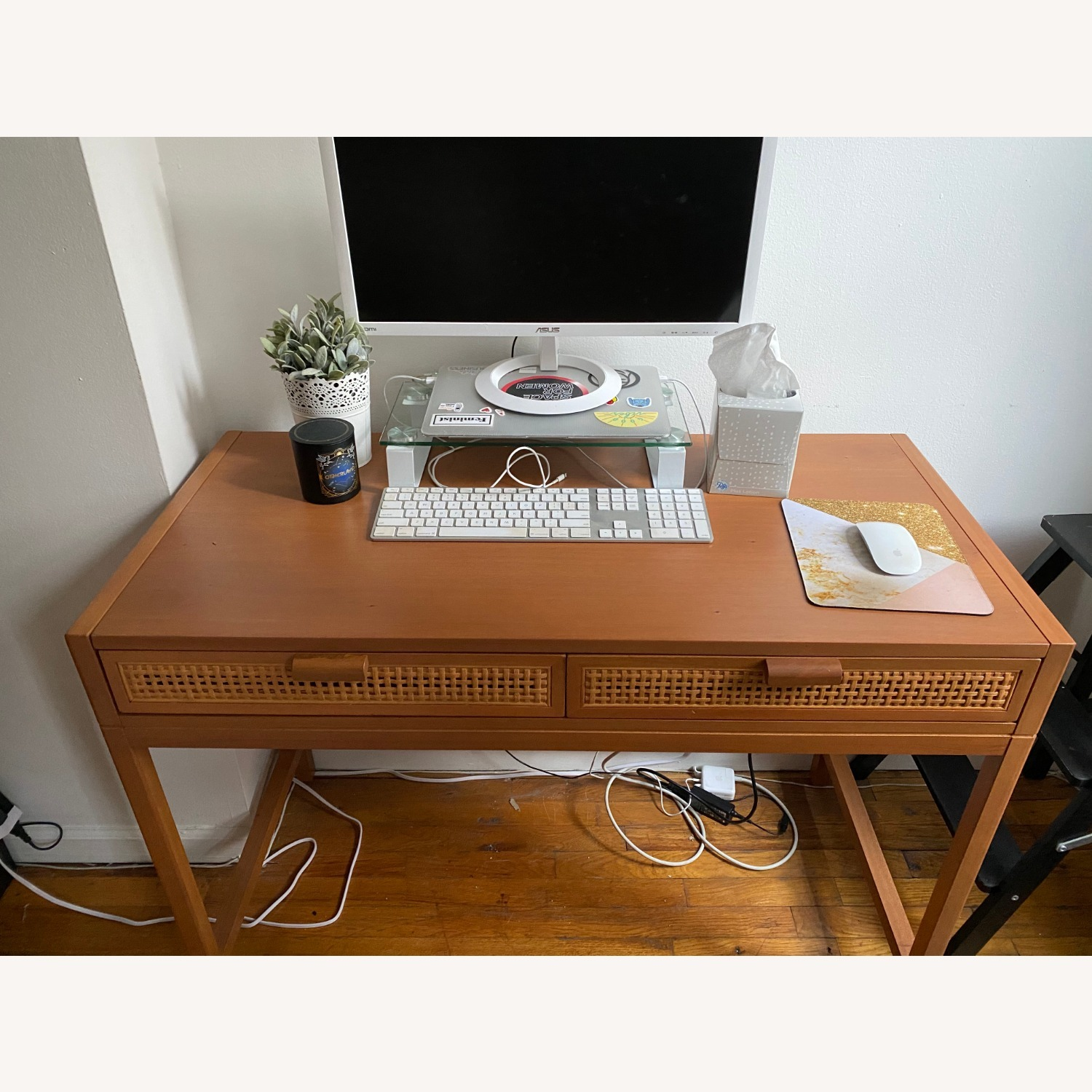 Target Opalhouse Writing Desk with Drawers Brown - image-6