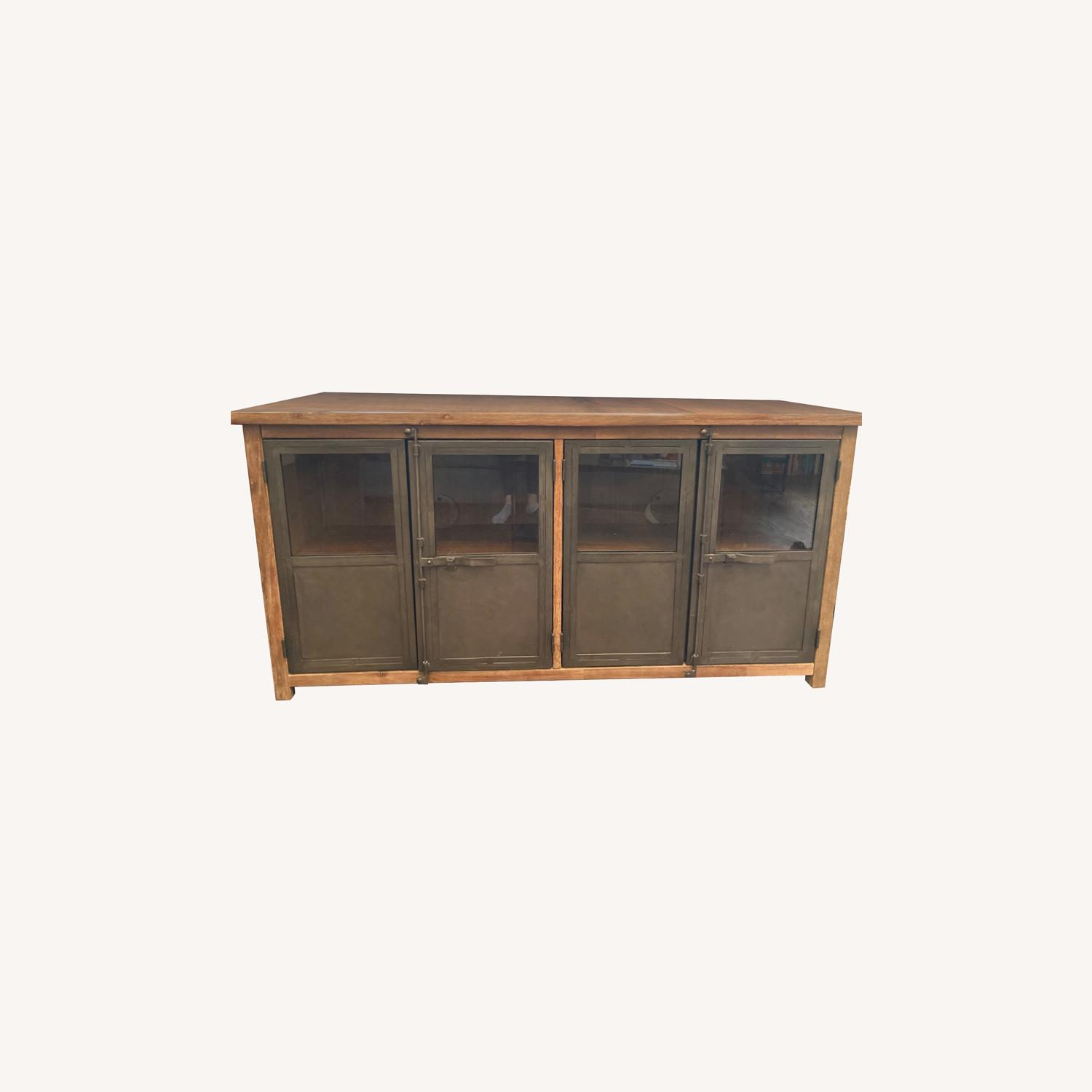 World Market Metal and Wood Credenza - image-0