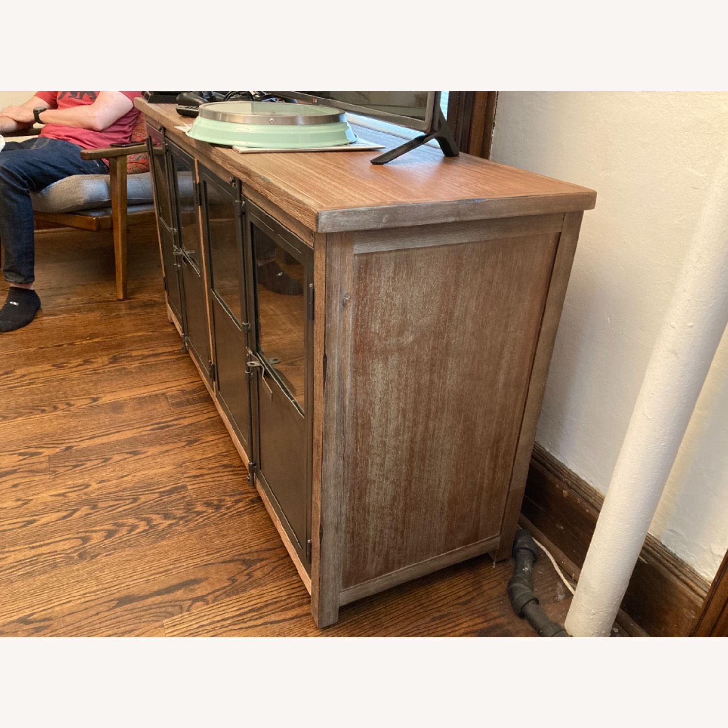 World Market Metal and Wood Credenza - image-2