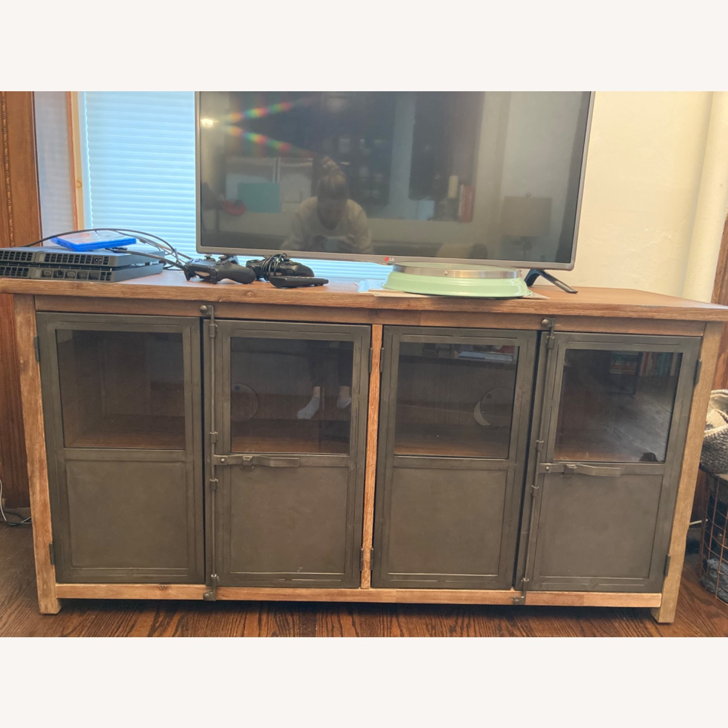 World Market Metal and Wood Credenza - image-1