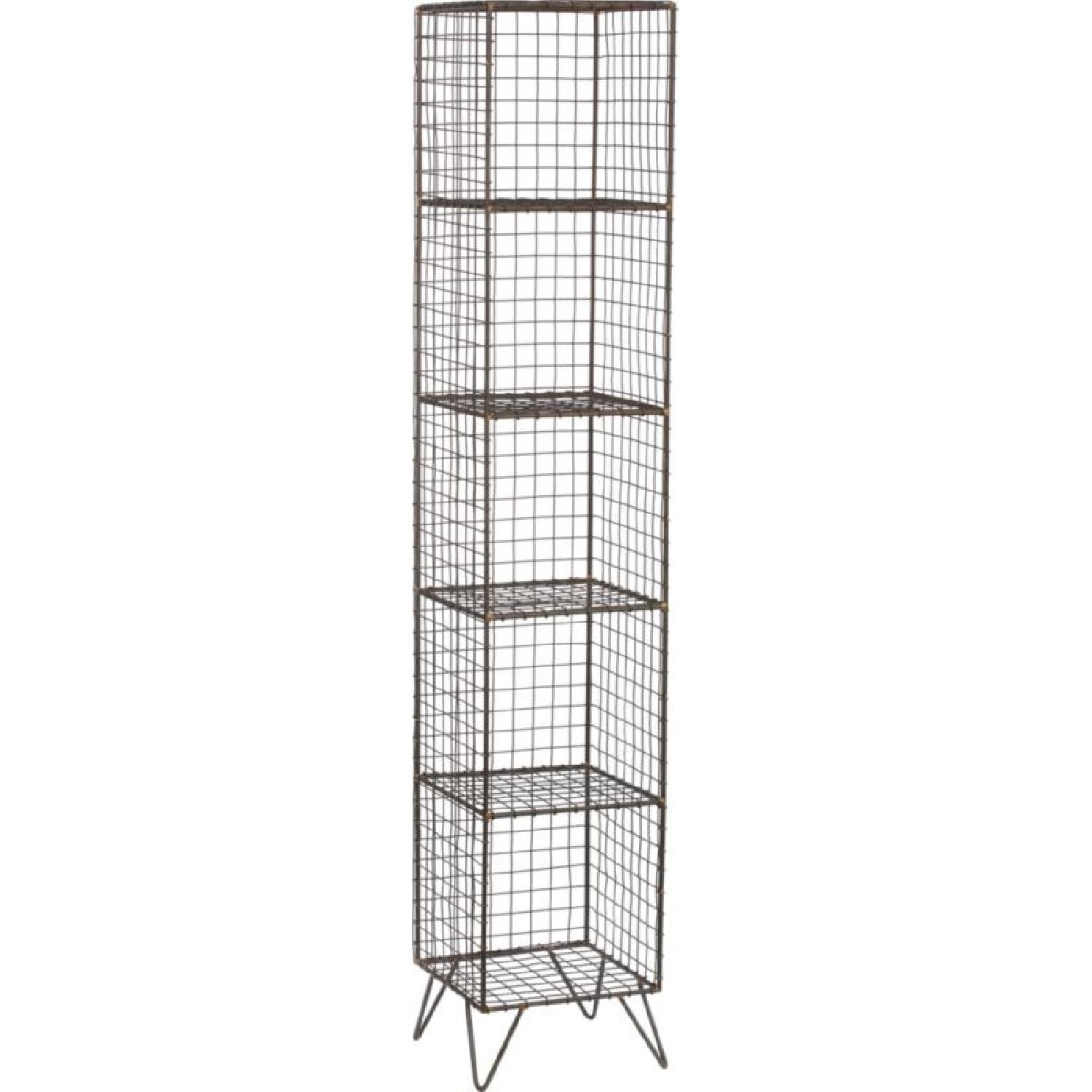 CB2 Coop Wire Tower Bookcase Shelves - image-4