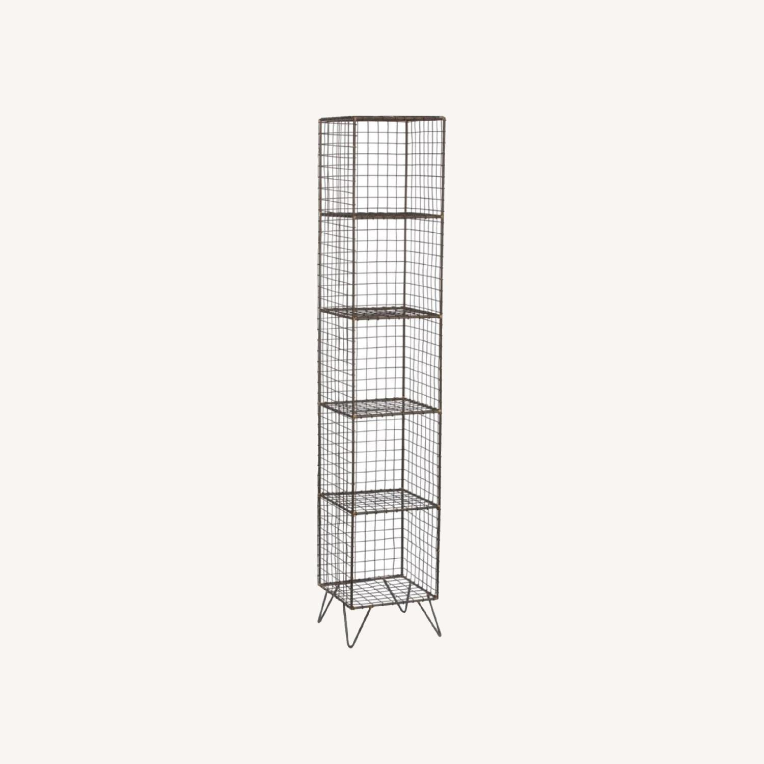 CB2 Coop Wire Tower Bookcase Shelves - image-0