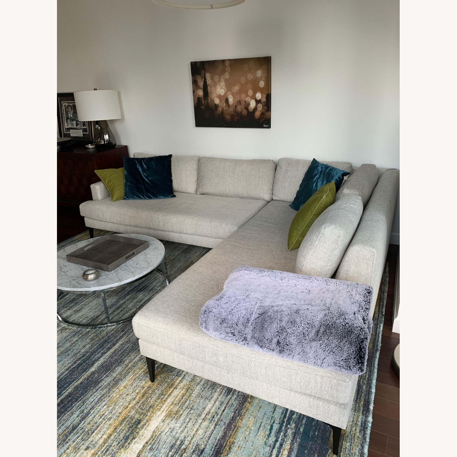 West Elm Grey Andes Right 2-Piece Chaise Sectional - image-2