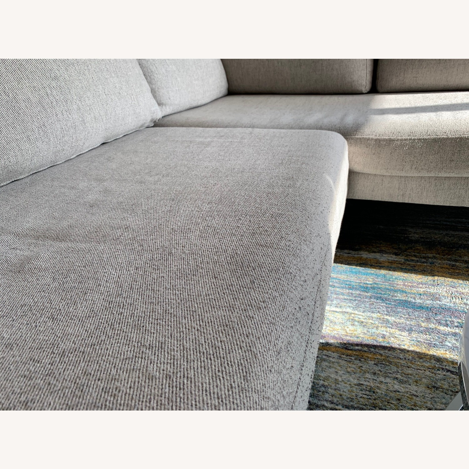 West Elm Grey Andes Right 2-Piece Chaise Sectional - image-4