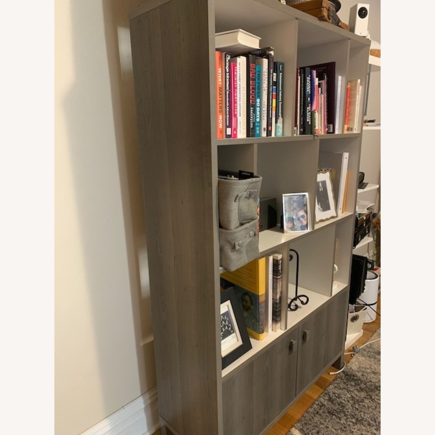 South Shore Expoz 9-Cube Shelving Unit With Doors - image-2
