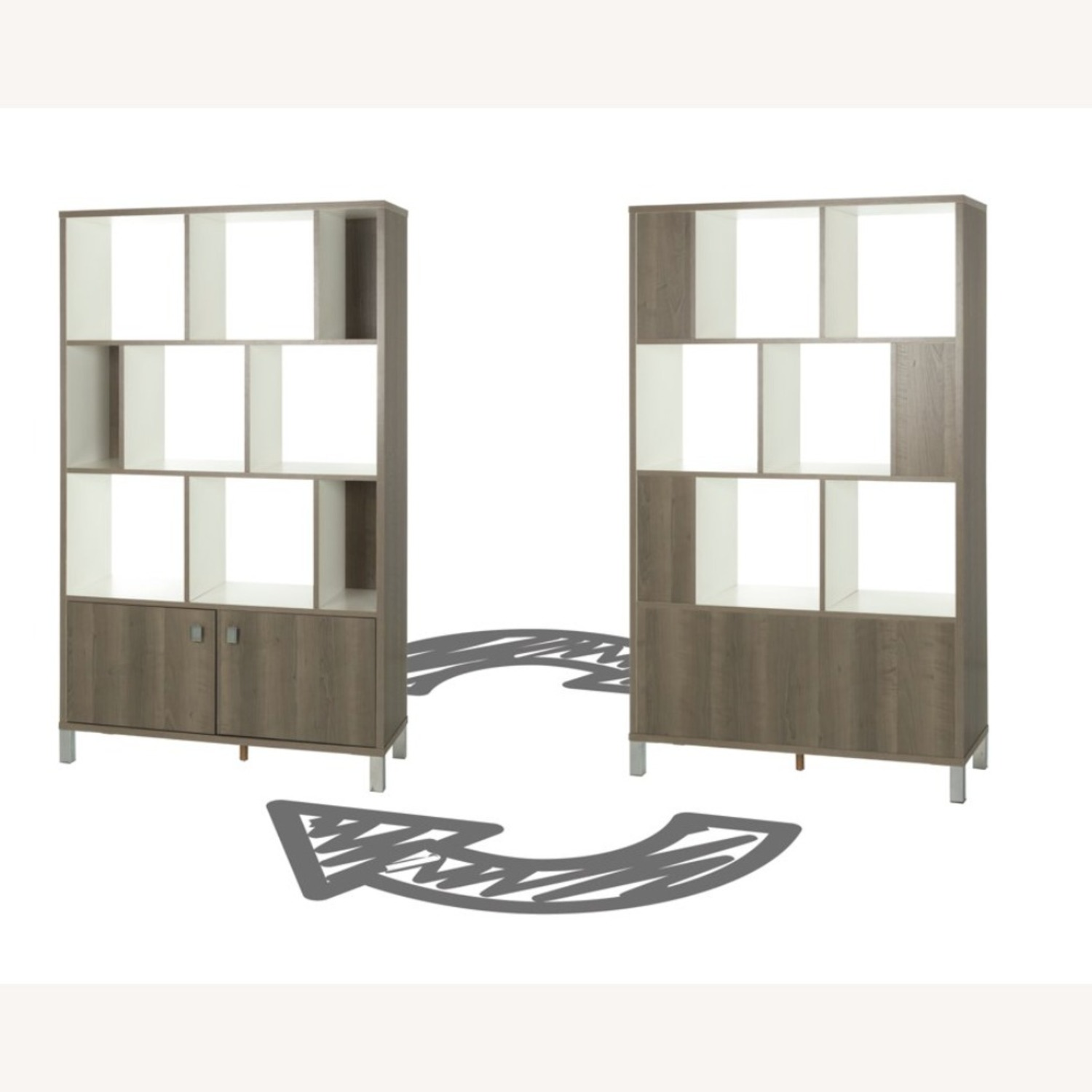 South Shore Expoz 9-Cube Shelving Unit With Doors - image-5