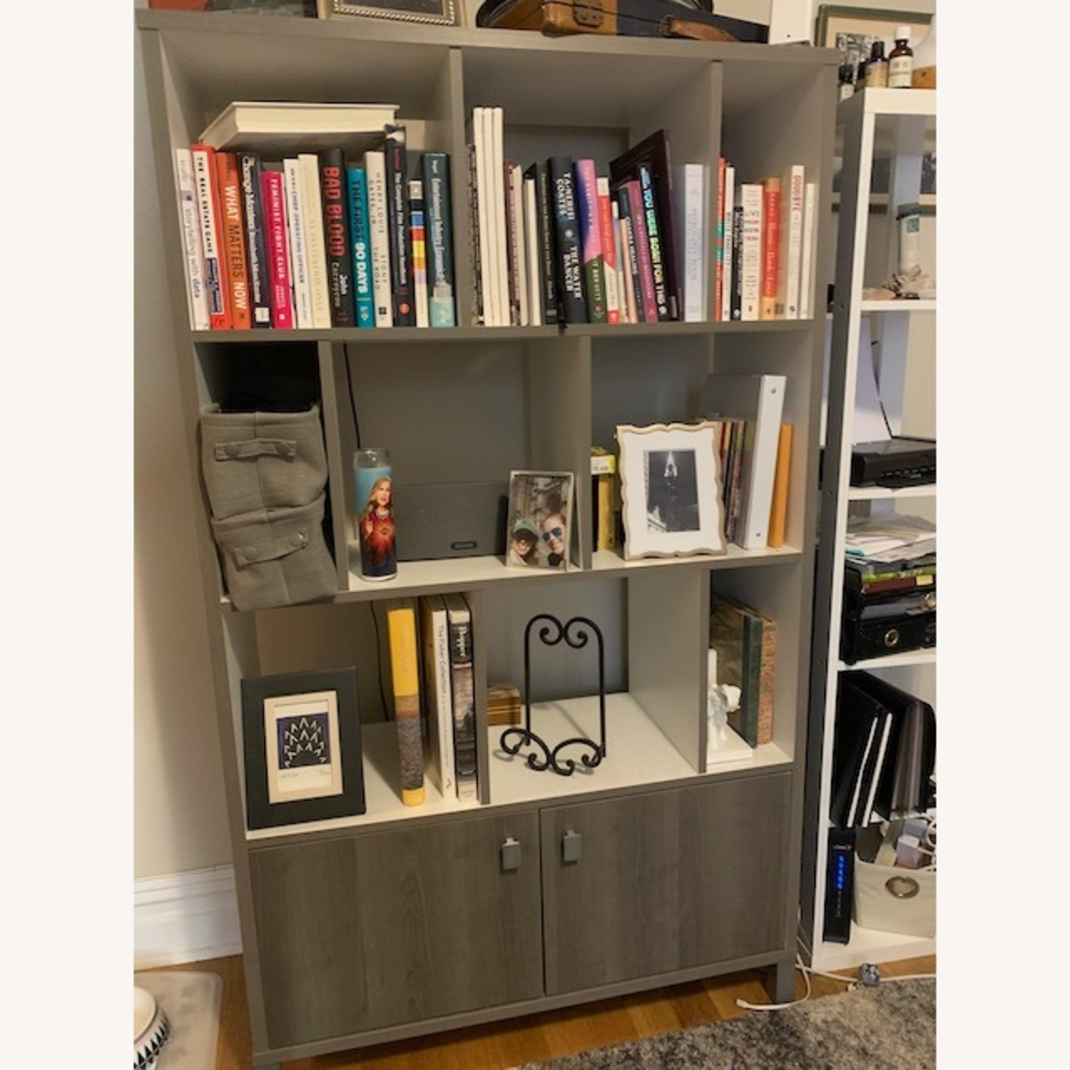 South Shore Expoz 9-Cube Shelving Unit With Doors - image-1