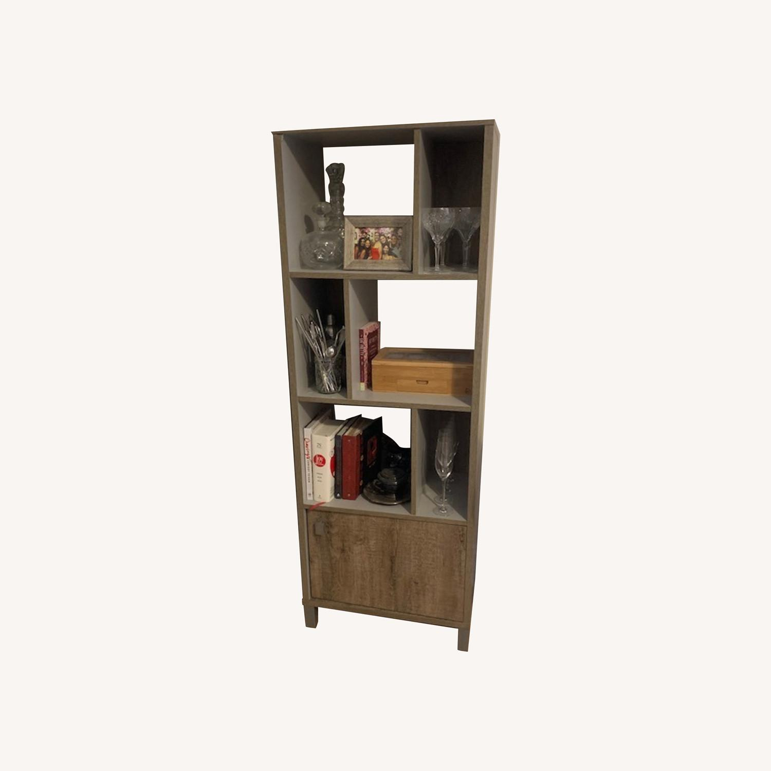 South Shore Expoz 6-Cube Shelving Unit With Door - image-0