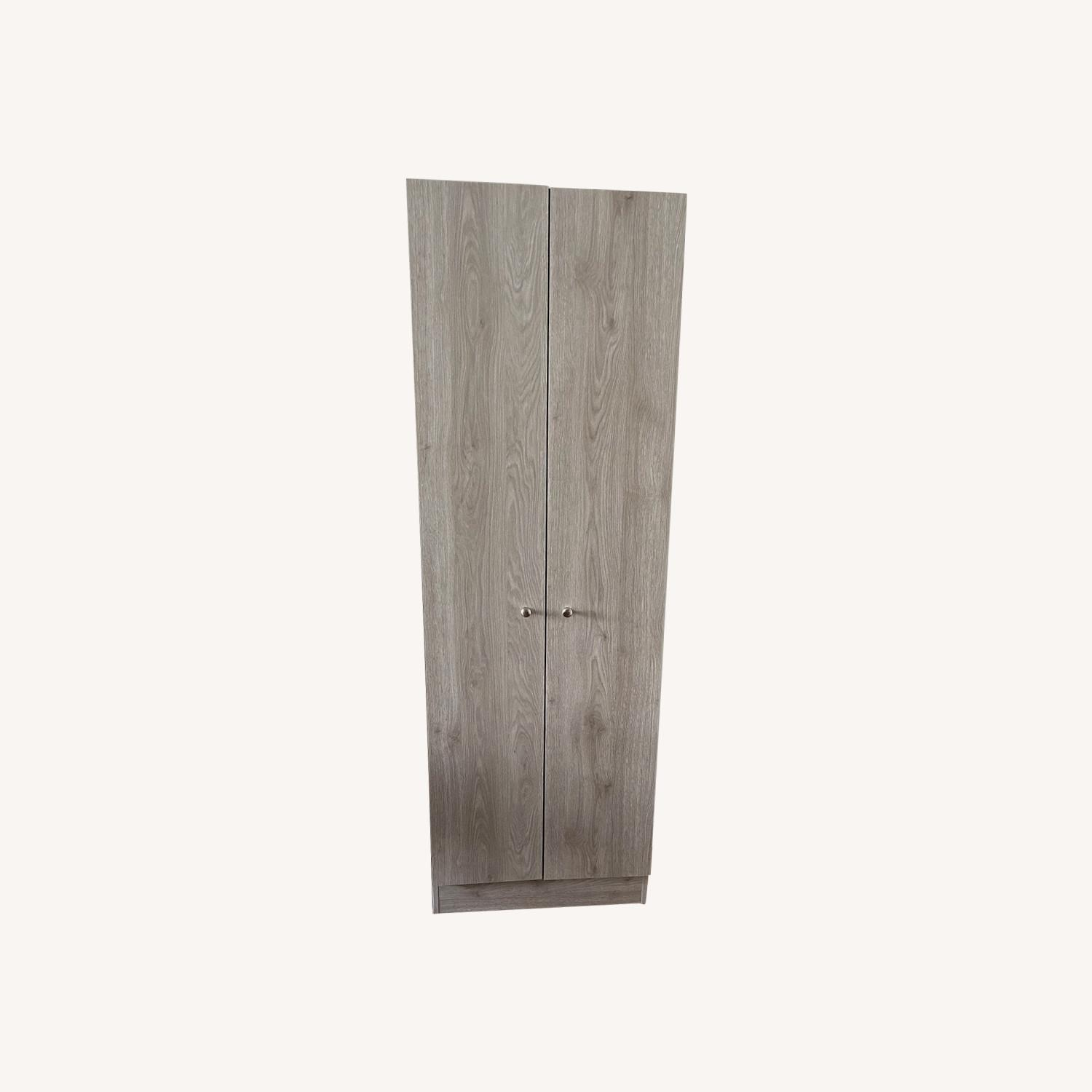 Wayfair Grey Wood Storage Cabinet - image-0