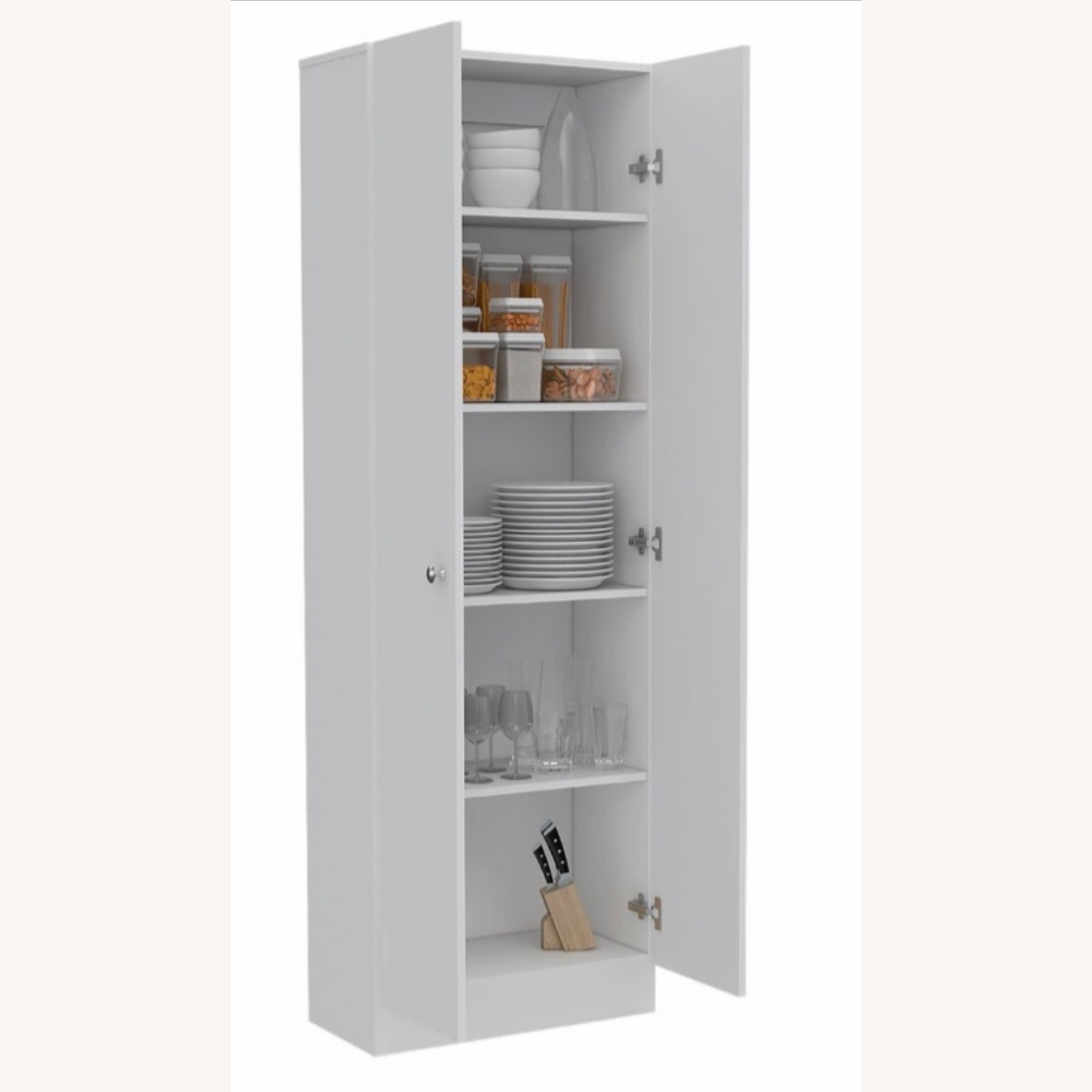 Wayfair Grey Wood Storage Cabinet - image-2