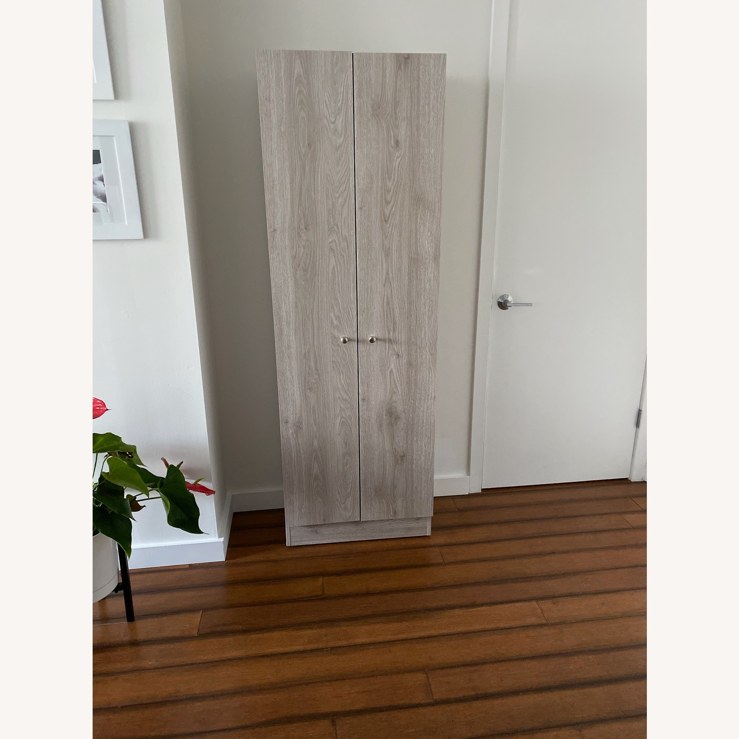 Wayfair Grey Wood Storage Cabinet - image-1