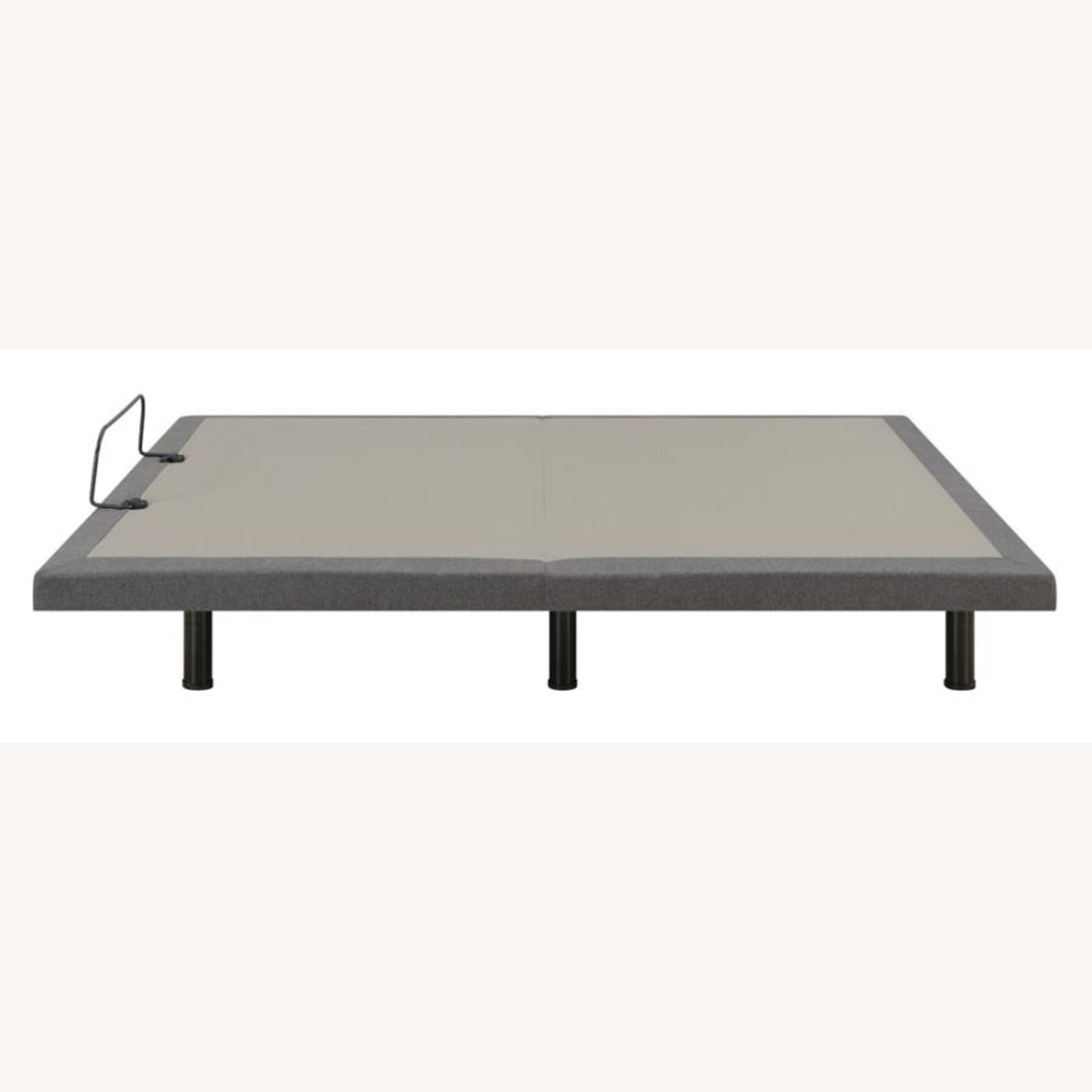Adjustable Queen Bed Base In Grey Fabric - image-4