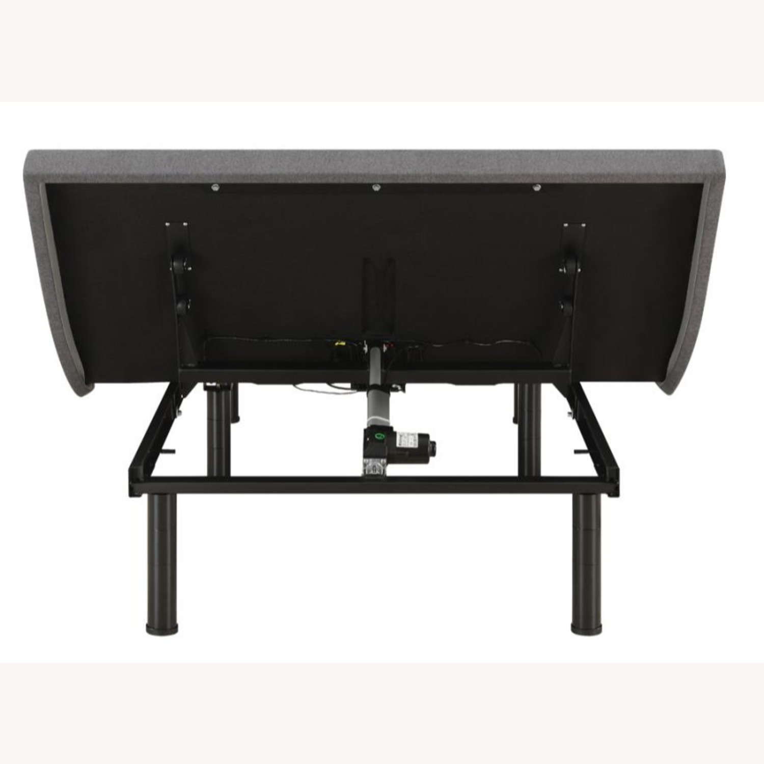 Adjustable King Bed Base In Grey Fabric - image-5
