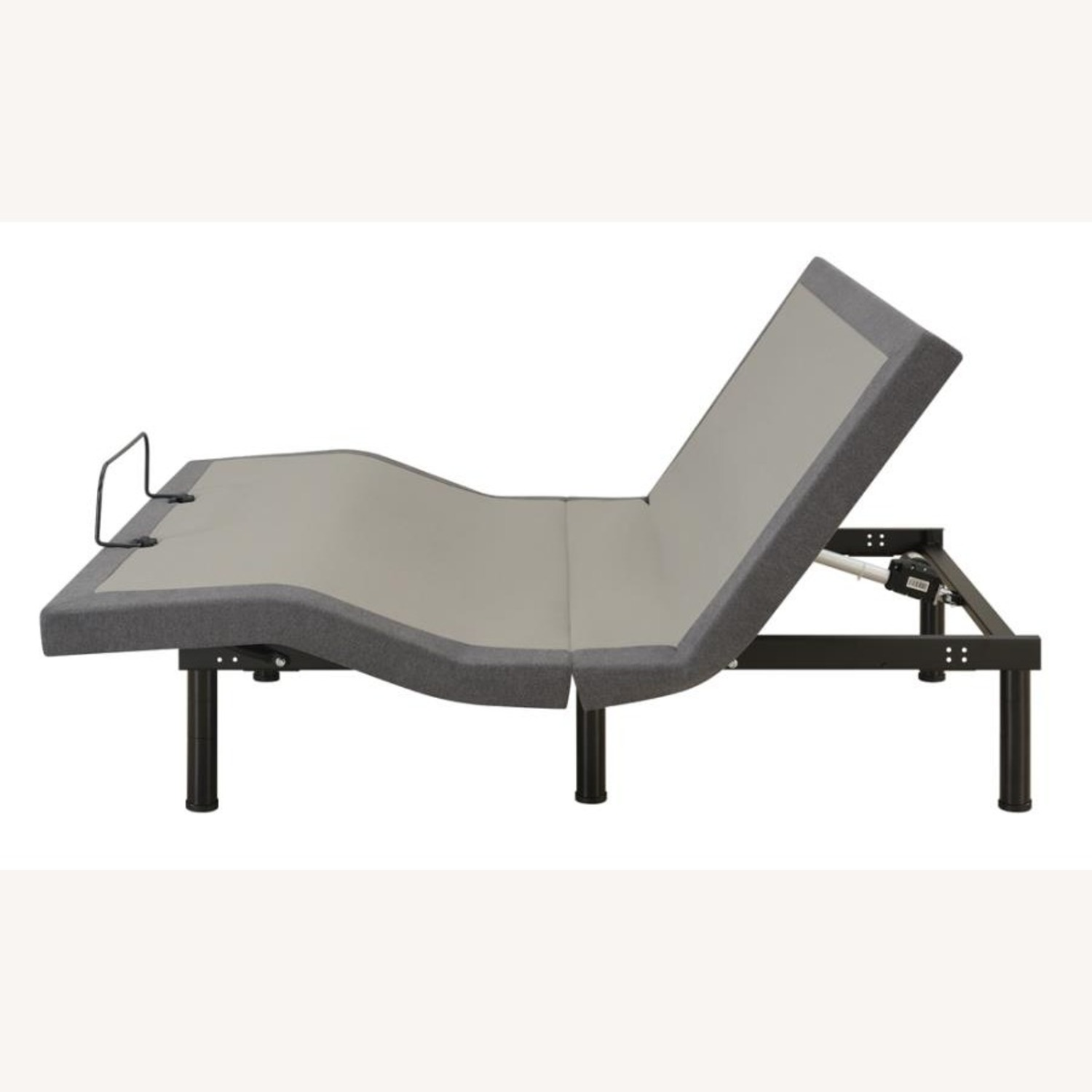 Adjustable King Bed Base In Grey Fabric - image-2