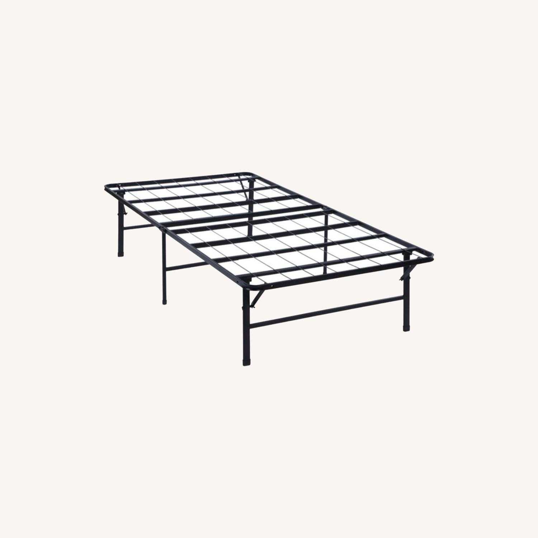 King Platform Metal Bed In Black Finish - image-7