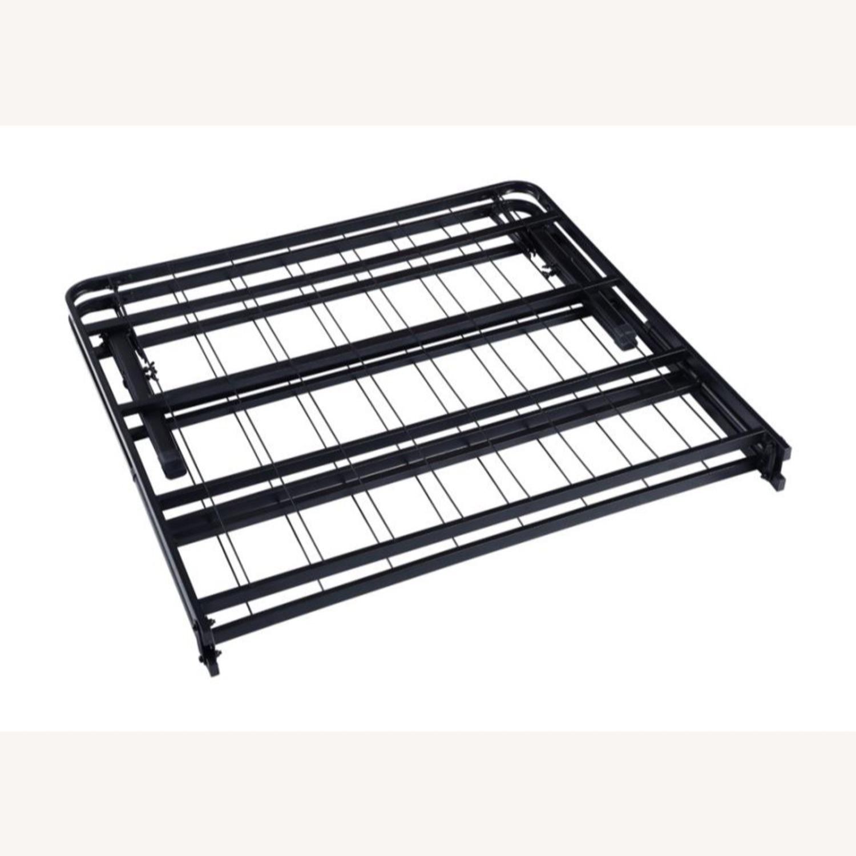King Platform Metal Bed In Black Finish - image-1