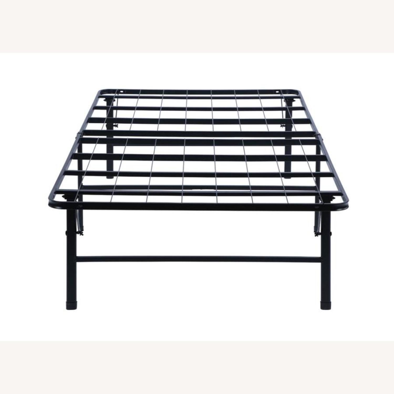 King Platform Metal Bed In Black Finish - image-3