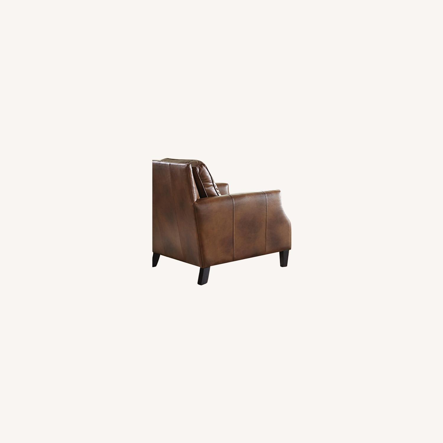 Chair In Brown Sugar Leather Upholstery - image-3