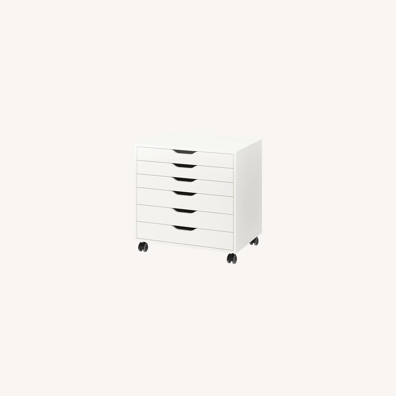 IKEA Alex Six Drawer Cabinet - image-0