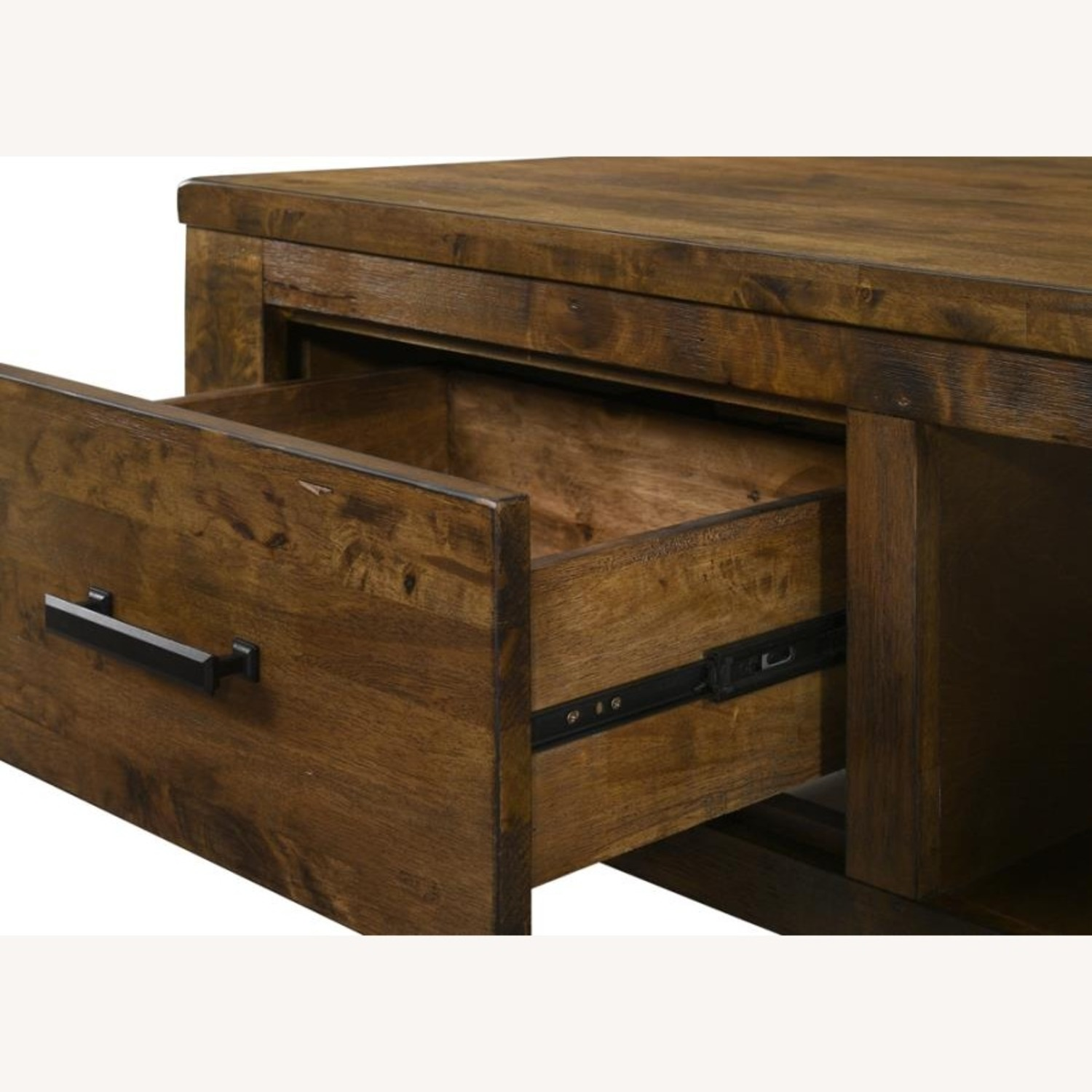 Coffee Table W/ Drawer In Brown Sugar Finish  - image-1
