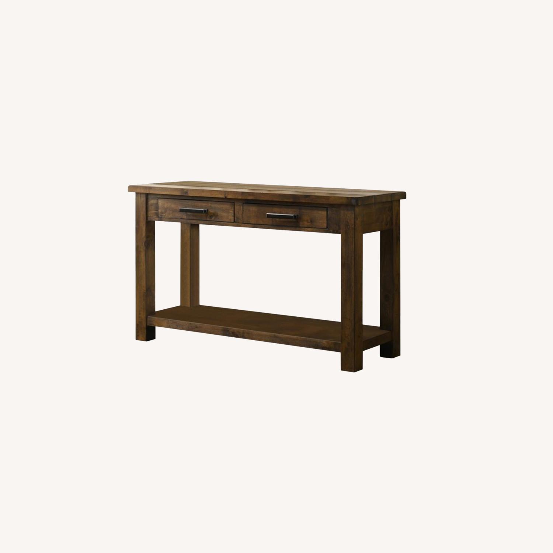 Sofa Table W/ Lower Shelf In Brown Sugar Finish - image-3