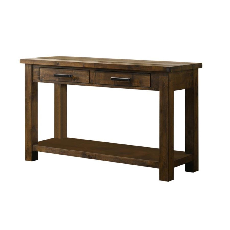 Sofa Table W/ Lower Shelf In Brown Sugar Finish - image-1