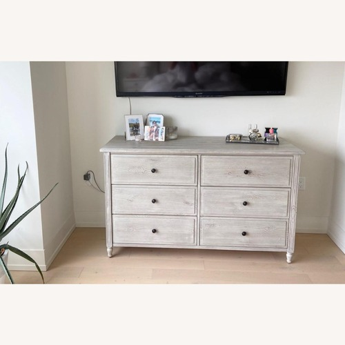 Used Pottery Barn Weathered White Dresser for sale on AptDeco