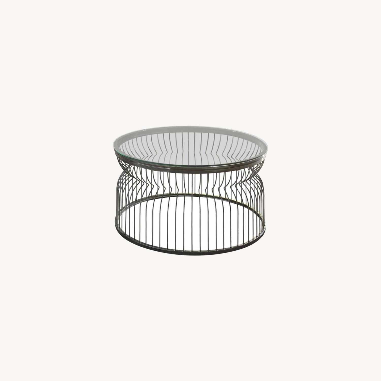 Modern Coffee Table In Black Nickel Finish - image-3