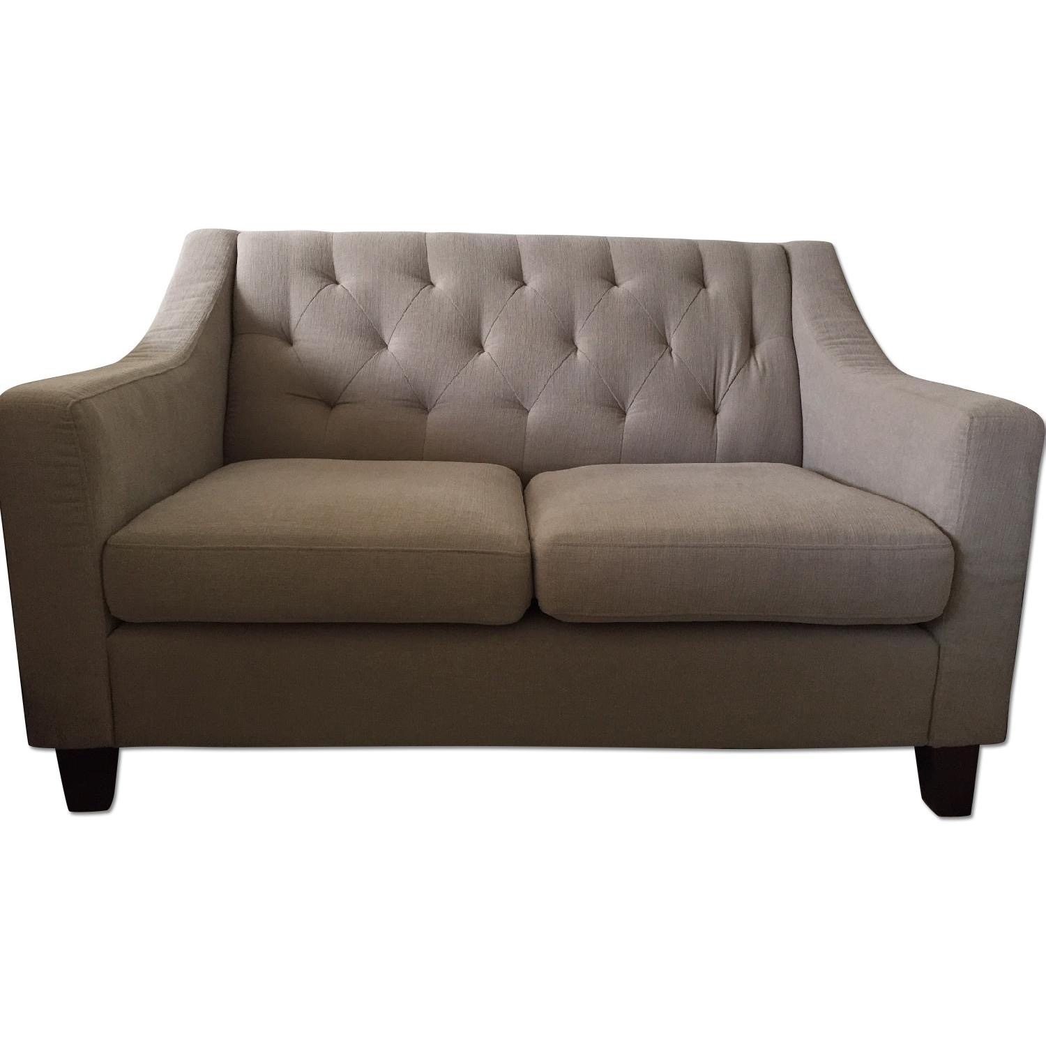 Target Tufted Loveseat in TAUPE - image-3
