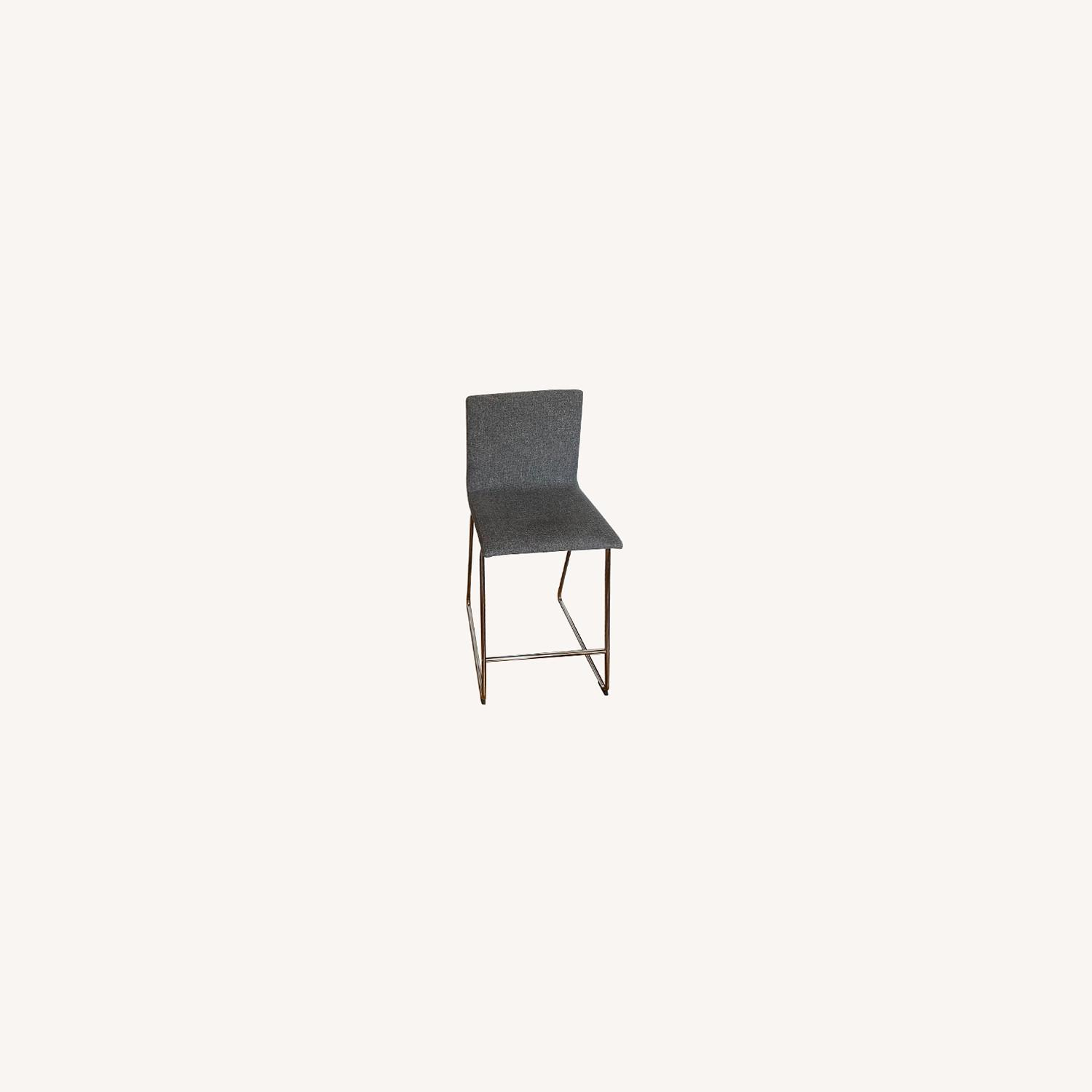 West Elm Slope Leather Charcoal Chair - image-0