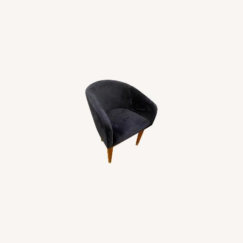 Used CB2 Sapphire Blue Velvet Chair for sale on AptDeco