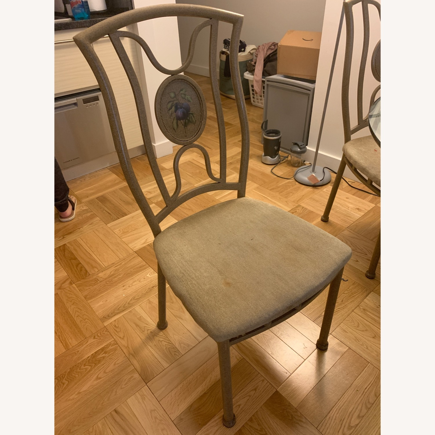Vintage Glass Dining Room Table and Chair Set - image-4