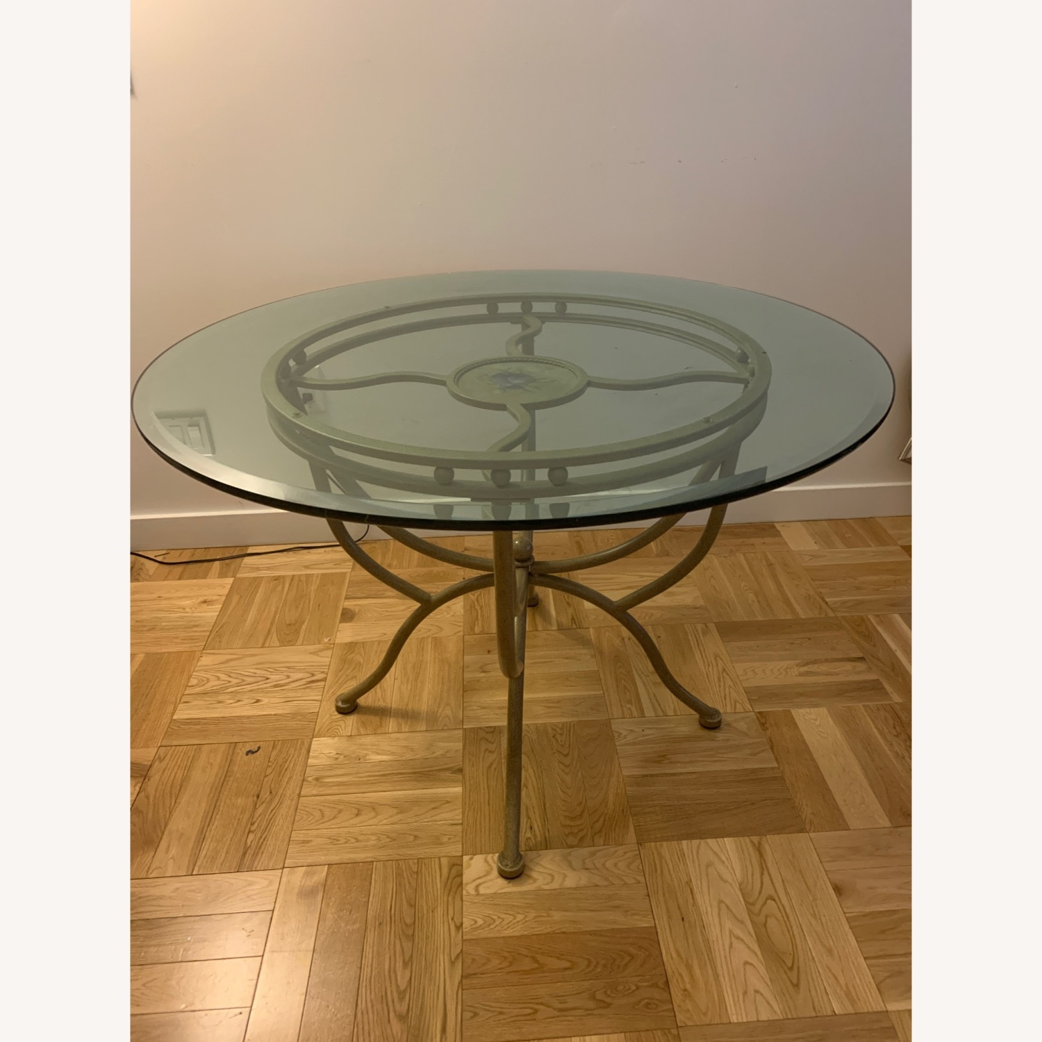 Vintage Glass Dining Room Table and Chair Set - image-3
