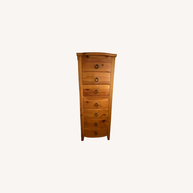 Belle Reve Natural Wood 7-Drawer Lingerie Dresser - image-0