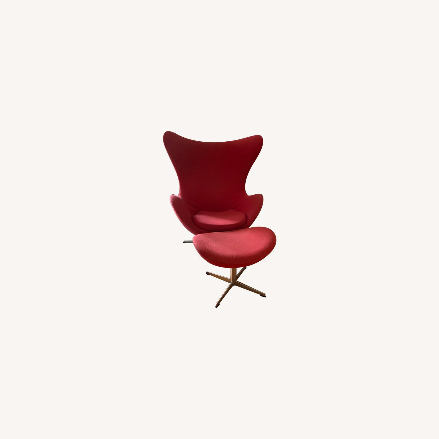 Fritz Hanson Egg Chair and footstool - image-0