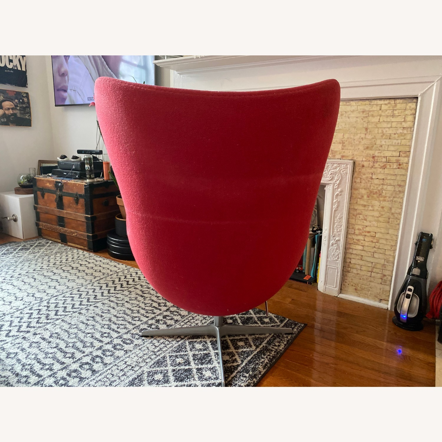 Fritz Hanson Egg Chair and footstool - image-8