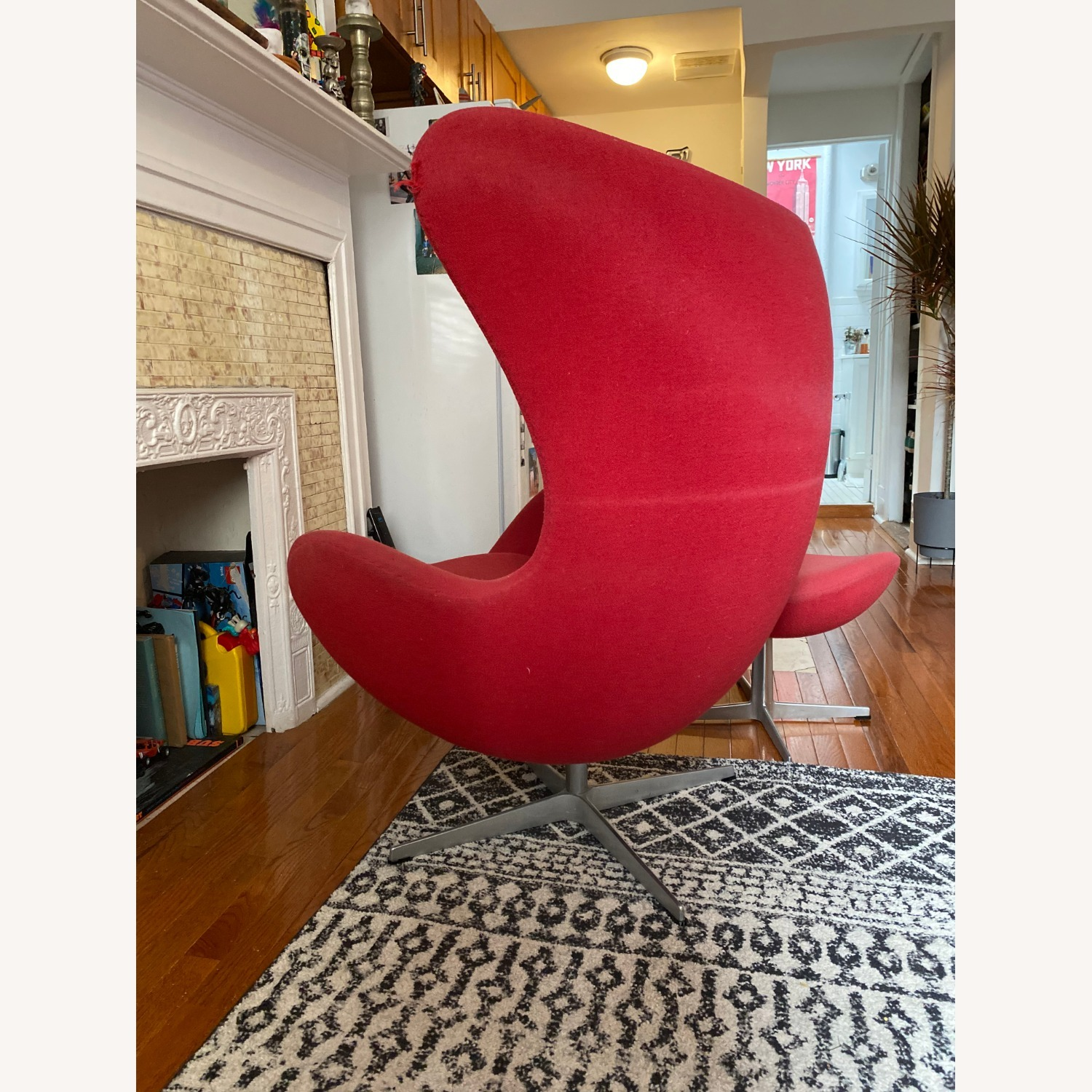 Fritz Hanson Egg Chair and footstool - image-9