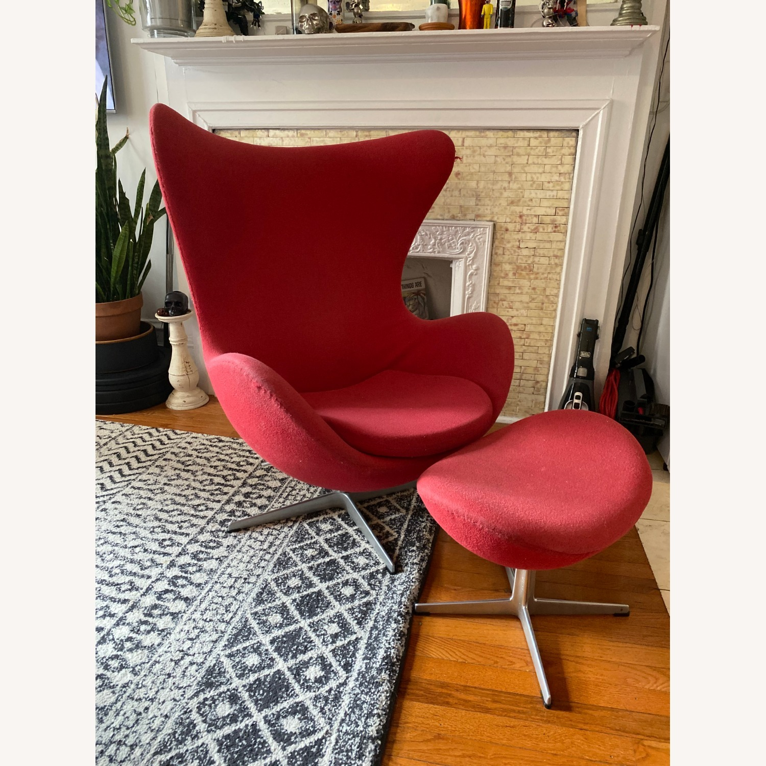 Fritz Hanson Egg Chair and footstool - image-2