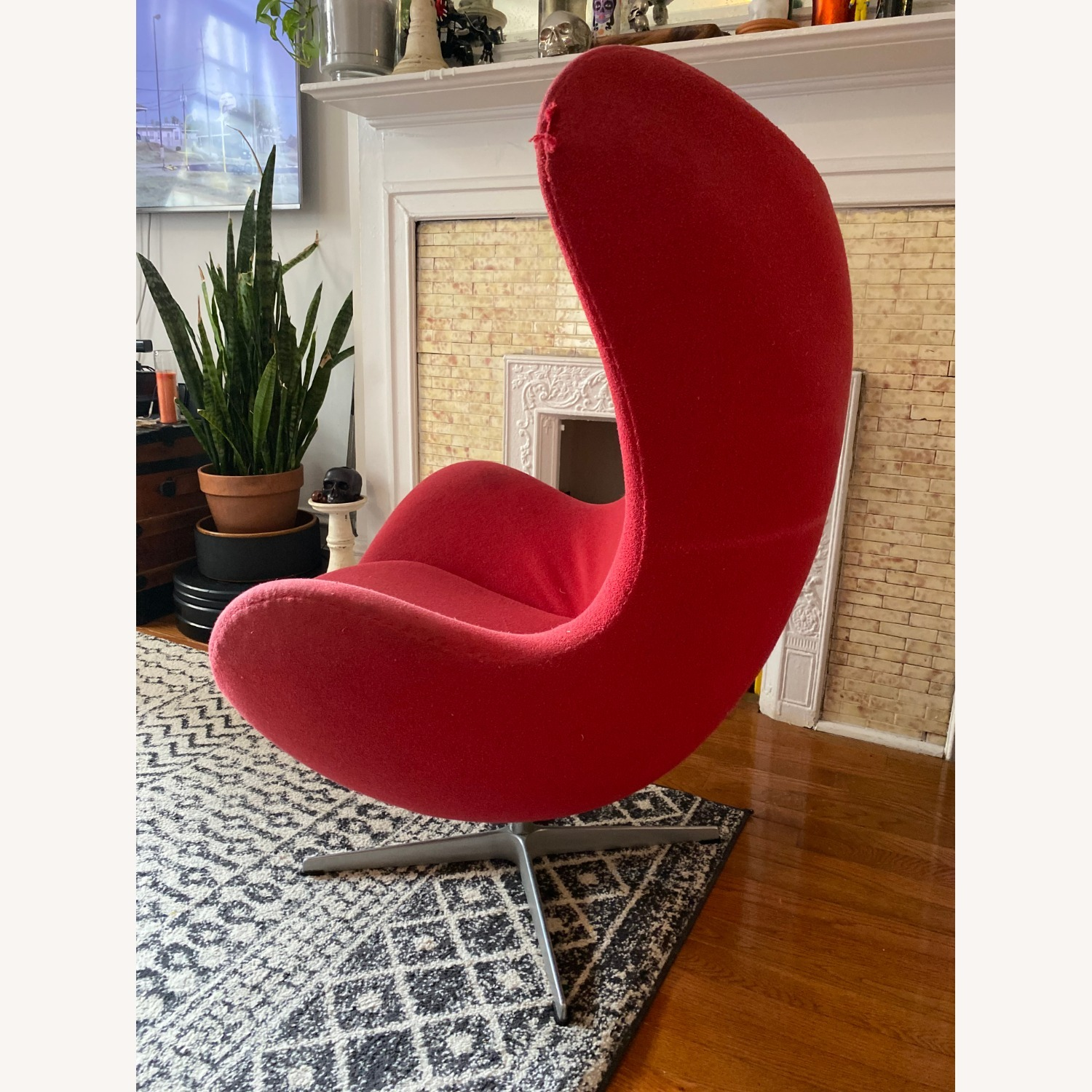 Fritz Hanson Egg Chair and footstool - image-3